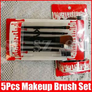 5 PC / cepillos de maquillaje para principiantes herramientas del Kit de sombra de ojos Eyeliner de la ceja labio de la pestaña del cepillo del maquillaje