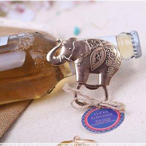 Creativo fortunato Golden Elephant apribottiglie per la decorazione del partito unico sposa favori wedding e regali souvenir ZA1336