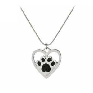 Nuova moda femminile creativo Collana Hollow a forma di cuore cane zampa artigli gatto impronte di San Valentino moda fascino donne regalo