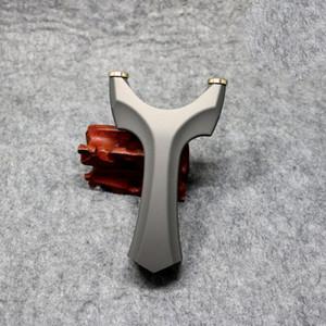 Tradicional Recurvo Slingbow tirachinas Caza Disparos Catapulta del tiro al arco aluminio de la aviación Tiro de gran alcance honda plana de la goma del arco