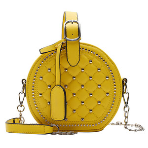 BRW Designer-Tasche Niet Stil Kettenbügel Schulter diagonale runde Stil Damen Handtaschen Beutelfrauen Art und Weise Totes Designer-Tasche