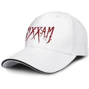 Sixx A.M 로고 빨강 백인 남자와 여자 샌드위치 모자 트럭 운전사 차가운 맞는 골프 모자 맞춤 맞춤 모자 최고의 맞춤 샌드위치