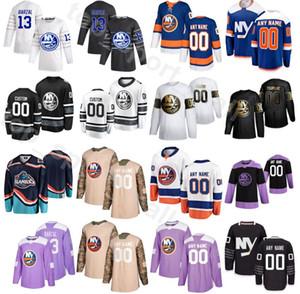 2020 New York Islanders de Ouro Edição Hóquei no Gelo 53 Casey Cizikas Jersey 55 Johnny Boychuk 47 Leo Komarov 3 Adam Pelech Nome personalizado