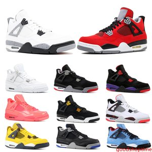 Top 4 4s Basketball Shoes Mens OG Bred For 2019 Tattoo Singles Day Pure Money Men Designer Trainer Sport Sneaker Size 41-47