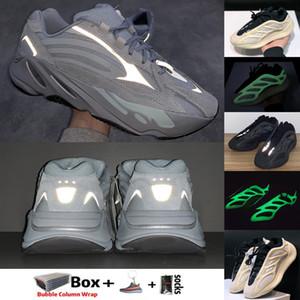 Taille 13 Kanye West hôpital Blue Azaël Alva 700 V3 Asriel Israfil Oreo Lin V2 Chaussures de course Hommes Reflective Sport Entraîneur Sneakers