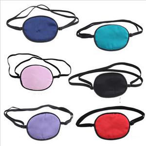 Masque pour les yeux haut de gamme en soie à un œil Entraîneur pour l'amblyopie aux yeux Eyeshade Portable Soft Eye Patch Masque de couchage Cas MR088