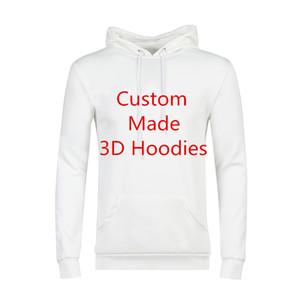 Sweat À Capuche De Haute Qualité Hommes Personnalité Impression 3D Hoodies Client Personnaliser Hoodie DropShipping Grossistes