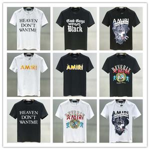 2020 SS Новый высокого качества прибытия Амири Одежда Мужская футболка Печать Тройник с коротким рукавом рубашки M-3XL 6349