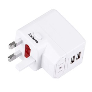 USV Fuse World-Wide Universal Travel Adapter with Built-in Dual USB Ports Charger for US, UK, AU, EU