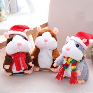 Говоря Hamster Плюшевые игрушки Симпатичные 16см животных мультфильм Kawaii Speak Talking Sound Record Hamster Говоря Игрушка Дети рождественские подарки LXL609-1