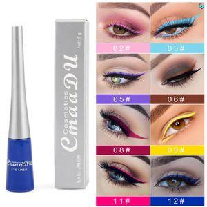 Cmaadu liquide Matte Eye-liner 12 couleurs imperméable Matte cosmétiques ombres à paupières Eyeliner Sexy Rouge Blanc Bleu Pen Liner Eye Charme