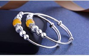 marca de qualidade superior pulseiras de prata novas crianças de prata pulseira de S990 finos com quartzo topázio jóias de prata vendedor de fábrica DDS0441