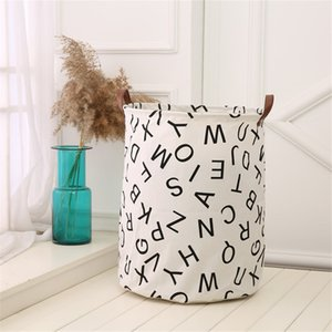Waterproof Canvas Sheets Laundry Clothes Toy Basket Folding Storage Box Jewelry Scarf Socks Clothes Storage Basket Bags Dropship