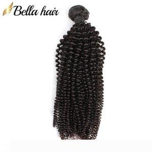 "Cambodian Kinky Curly Hair Bundles 10""-24"" Virgin Human Hair Extensions Double Weft Hair Wefts Weaves Bellahair On Sale 9A"
