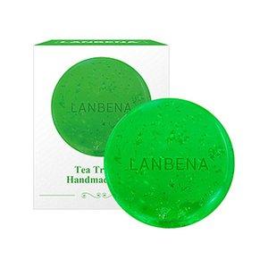 Lanbena théier vert à la main Savon Huile essentielle Nettoyant Visage acné hydratant comédons savon