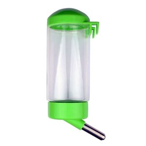 Pet Water Bottle Hanging No Drip Chew Proof 400ml for Puppy Cat Rabbit Small Animals, Automatically Feeding Water (Random Color)