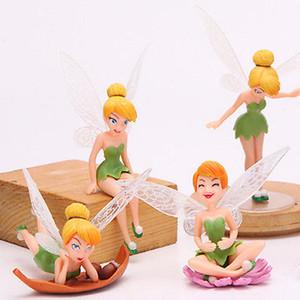 Emmababy 4pcs Blumen-Elf-Fee Miniatures Figurine Garten Ornamente Dekor Schönheit Dekor-Geschenk