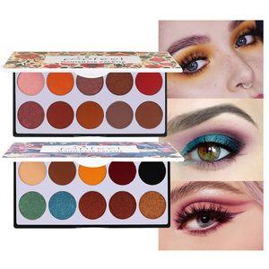 POPFEEL 10 couleurs de fard à paupières cosmétique Matte Palette de fard à paupières Shimmer Set Profissional coloré pigmenté mat Glitter