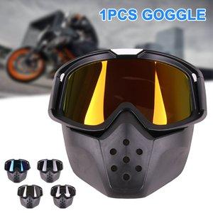1 шт мотоциклетный шлем Goggle Обложка Vintage ветрозащитный Защита глаз для наружной YS-ПРОДАЖУ