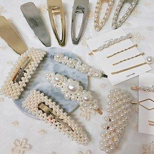 Mujeres palabras belleza perla pinza de pelo horquilla Barrette Bobby Pin accesorios