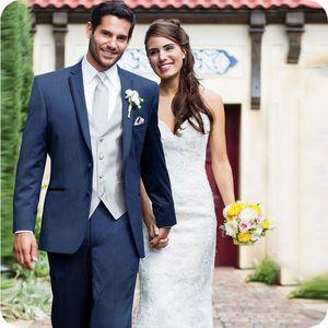 Выполненные на заказ темно-синие свадебные костюмы для мужчин костюмы блейзер жених лучший человек Портной смокинги куртка мужчины Terno Masculino 2 шт куртка+брюки