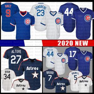 Hommes 44 Anthony Rizzo 27 Jose Altuve baseball Jersey 17 Kris Bryant 23 Ryne Sandberg 34 Nolan Ryan 5 Jeff Bagwell 7 Craig Biggio Maillots