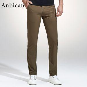 Anbican Fashion Khaki beiläufige Hosen der Männer 2017 Frühlings-nagelneue Freizeit Geschäft dünne Hose Mens Cotton Arbeit Chinos Kleid Hose