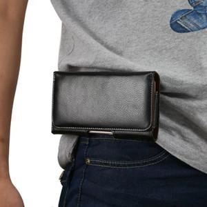 Caso della cassa della cinghia della clip del sacchetto della vita degli uomini del cuoio genuino di lusso per T-Mobile Revvl Plus / Revvl 2 Plus Oneplus 6T 6 7 5T 5 3 3T 2 1 Borsa