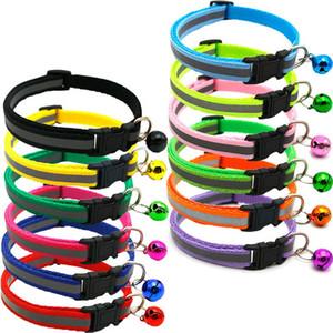 Pet Mehrfarbenglockenkragen Nacht Sicherheit reflektierende Paste Zugseil Hund Katze Halsband Pet Supplies XD22898