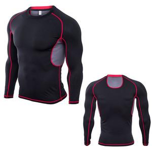 Koşu gömlekler fit erkek spor giyim kepçe boyun uzun suiit polyester giyim bina Ueda yatak kollu kuru