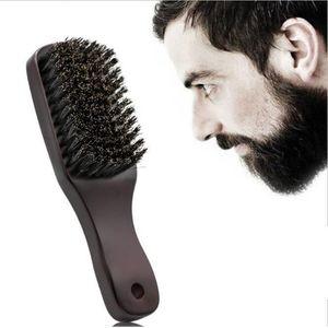 Beard Brush Comb Bristle for Men's Mustache Shaving Comb Face Massage Facial Hair Cleaning Brush Long Handle R0004