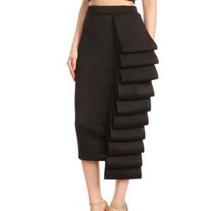 Женщины юбка-карандаш высокой талией Тонкий Midi Solid Modest Hip Классный Женский пакет Jupes Falad Officewear Элегантный Femme моды Юбки