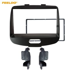FEELDO Car Stereo-Rahmen-Adapter für Hyundai I10 I10 2008-2013 Audio 2Din Fascia DVD Verkleidung Dash Kit Trim Lünette Cover # 2583