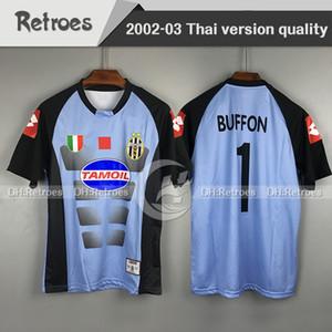 2002 2003 Retro Italia Buffon حارس المرمى Gaolie Soccer Jerseys 02 03 القمصان لكرة القدم Camiseta Maillot Classic Football Shirts