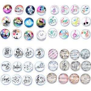 Musical Note Charms Snap Jewelry Mixed 100pcs lot 18mm Snap Jewelry 18mm Snaps Buttons 18mm Snap Button Noosa Button Diy Bracelet Accessorie