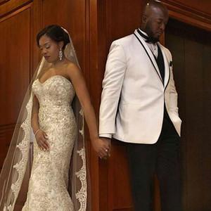Blanc Hommes Costumes De Mariage Costumes Marié Porter Weding Tuxedos Homme Blazers Veste Homme Costume Classique Homme 3 Pièces Slim Fit Terno Masculino