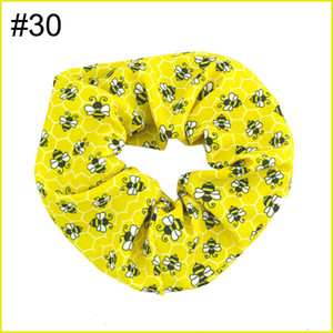 free shipping 6pcs NO1-No57 5.5'' big inspired hair scrunchies girl elastic hairbands Women Printed Scrunchie butterfly unicorn 4th of july