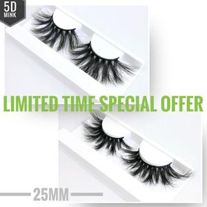49 stili 5D 25 millimetri visone False ciglia trucco soft Naturale marchio 3D visone ciglia individuale Faux dei cigli dell'occhio estensione Lashes privato