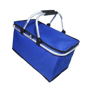 Gıda İçecek Öğle Piknik Depolama 600D Oxford Kumaş için 3 Stil Büyük Taşınabilir Serin Çanta İzoleli Termal Cooler