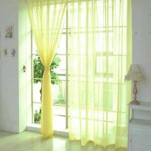 Tulle porte fenêtre rideau Panneau Drapé Sheer Scarf cantonnières Diviseur Sheer Voile