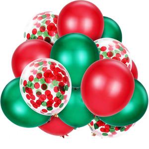 Colección decoración 360pcs Día del Niño de Navidad fruta verde rojo del confeti Globos Combinación Partido Feliz Navidad