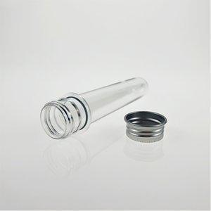 40ml transparent mask bath salt test PET tube with aluminum cap,40cc,clear plastic cosmetic tube with pressure sensitive seal