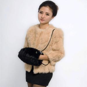 Handbags real fur hair handbag 2020 new real fur bag fashion bag hand sets of genuine warm hand clarinet dual-use b