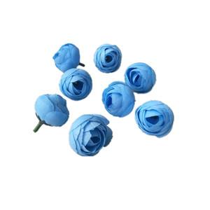 3.5 cm Artificial Rose Bud pequeña flor de seda Tea Bud Head para la boda decoración del partido en casa DIY guirnalda Scrapbooking artesanía