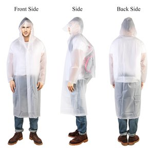 Portátil de la lluvia del impermeable del poncho ropa impermeable Hombres Mujeres Familia