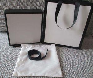 uomini migliori modo di prezzi all'ingrosso di lusso e le donne sacchetti di cuoio sacchetto di carta speciale cintura di design, con box di fattura