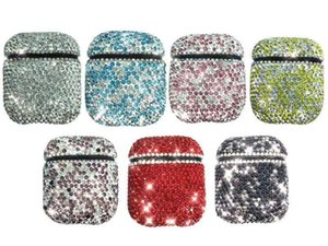 Luxury Rhinestone AirPods Case, Protective Bling Diamonds Wireless Airpod Charging Protective Cover for Apple AirPods 1  2
