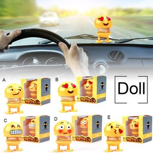 2019 Top sell Car Ornaments Spring Shaking Head Doll Expresión Emoji Automobiles Decor Toys Cute Auto Interior Car Decoration Accessories