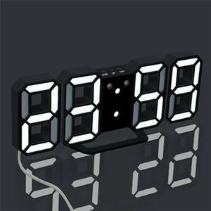 Orologio da parete LED 3D di disegno moderno digitali Tabella Sveglia Nightlight Per la casa decorazione del salone libero di trasporto