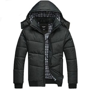 winter Jacket for men hooded coats casual mens thick coat male slim casual cotton padded down outerwear